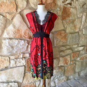 Anthropologie Poppy HTML Silk Dress